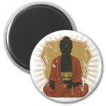 Buddha Meditating Lotus Flower Refrigerator Magnet