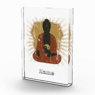 Buddha Meditating Om Symbol Award