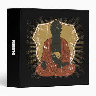 Buddha Meditating Om Symbol Binder
