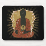 Buddha Meditating Om Symbol Mouse Pad