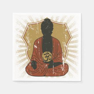 Buddha Meditating Om Symbol Napkin