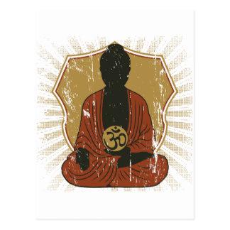 Buddha Meditating Om Symbol Post Card