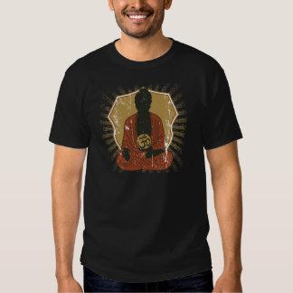 Buddha Meditating Om Symbol Tshirts