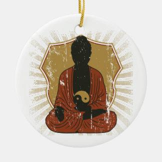 Buddha Meditating Yin Yang Ornament