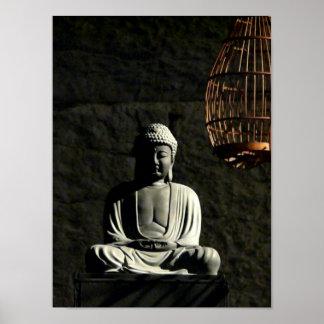 Buddha Meditation Statue Poster