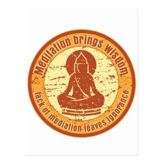 Buddha Meditation Wisdom Postcard