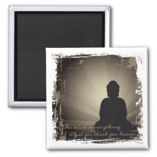Buddha Mind Is Everything 2 Inch Square Magnet