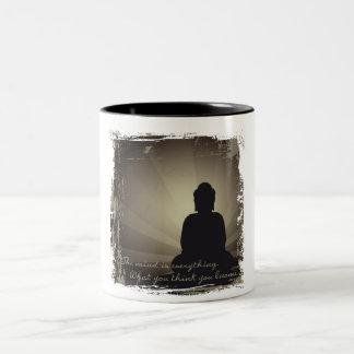 Buddha Mind Is Everything Two-Tone Coffee Mug