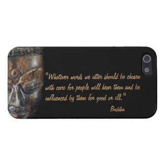 Buddha - mindful speech quote iPhone SE/5/5s case