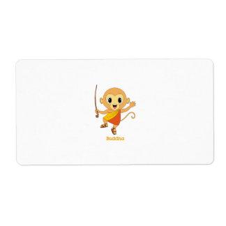 Buddha Monkey™ Avery Label