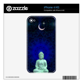 Buddha Moon and Star Zazzle Skin Skins For The iPhone 4