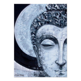 Buddha Moon - Nicole Whitty Art Poster