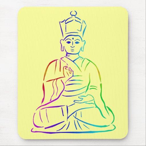 Buddha multicolor mouse pad