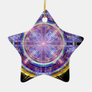 Buddha Nature Double-Sided Star Ceramic Christmas Ornament