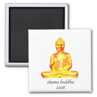 buddha obama refrigerator magnet