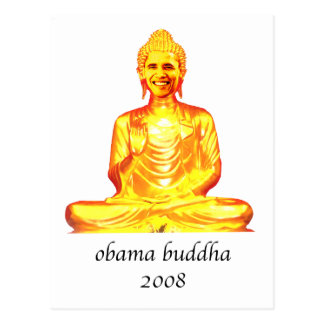 buddha obama postcard
