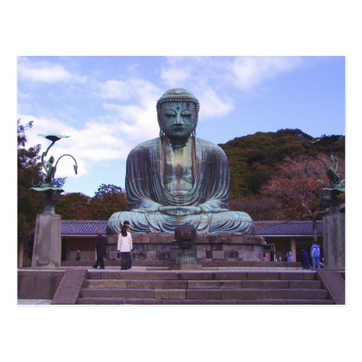 Buddha of Kamikura-postcard