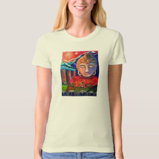 Buddha of the Mountains, an original oil painting T-Shirt
