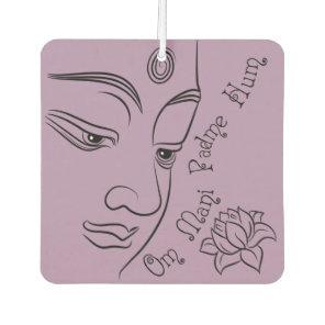 Buddha Om Mani Padme Hum Black Air Freshener