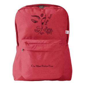 Buddha Om Mani Padme Hum Black American Apparel™ Backpack