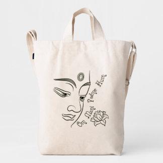Buddha Om Mani Padme Hum Black Duck Bag