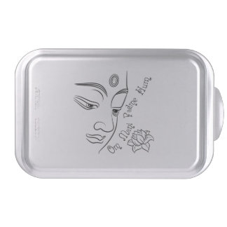 Buddha Om Mani Padme Hum Black Cake Pan