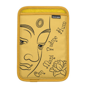 Buddha Om Mani Padme Hum Black Sleeve For iPad Mini