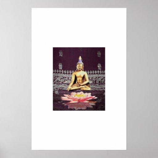 Buddha On Lotus 2 Posters