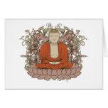 Buddha On Lotus Flower Greeting Card