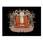 Buddha On Lotus Flower Postcard