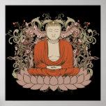 Buddha On Lotus Flower Posters