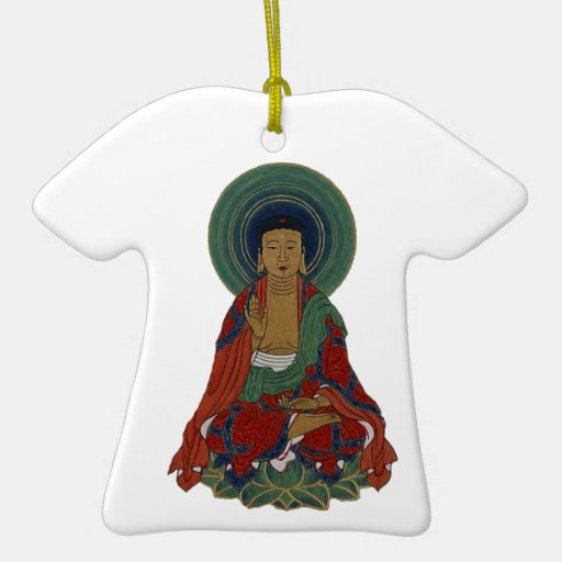 Buddha on Lotus Leaves Colorful Gift Ornaments