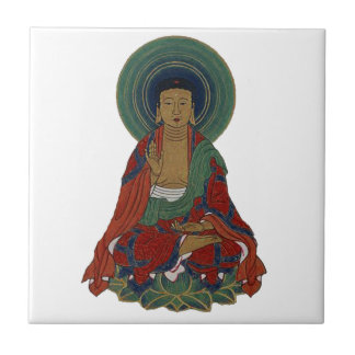 Buddha on Lotus Leaves Colorful Gift Ceramic Tiles