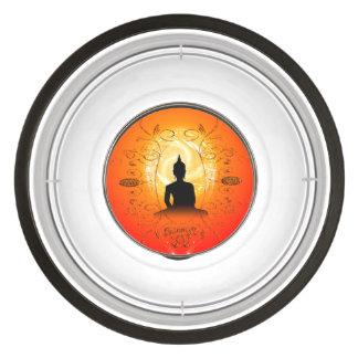 Buddha on mysical background pet bowl