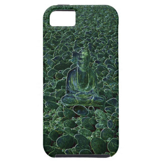 Buddha on Pebbles Green Tint iPhone 5 Case