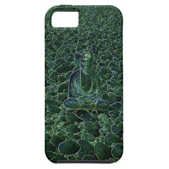 Buddha on Pebbles Green Tint iPhone 5 Case