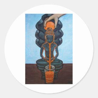 Buddha Orange Juice Fine Art Stickers