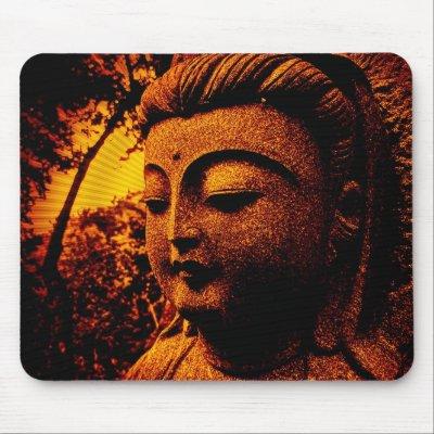 buddha-orange mousepad mousepad