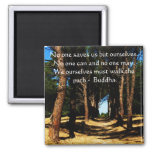 Buddha PATH Quote 2 Inch Square Magnet