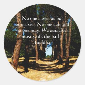 Buddha PATH Quote Classic Round Sticker