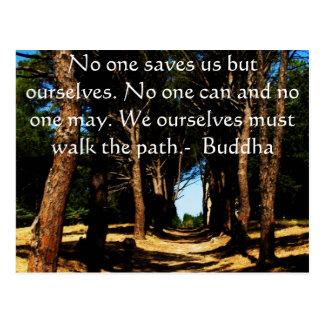 Buddha Path Quote Post Card