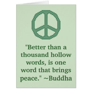 Buddha Peace Quote Greeting Card