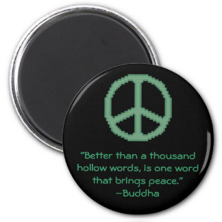 Buddha Peace Quote Magnet
