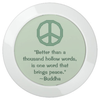 Buddha Peace Quote USB Charging Station