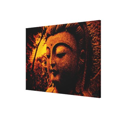 Buddha Peace Shine Wrapped Canvas wrappedcanvas