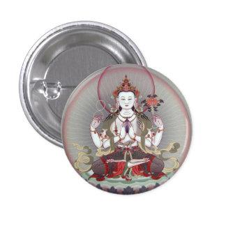 buddha pin redondo de 1 pulgada
