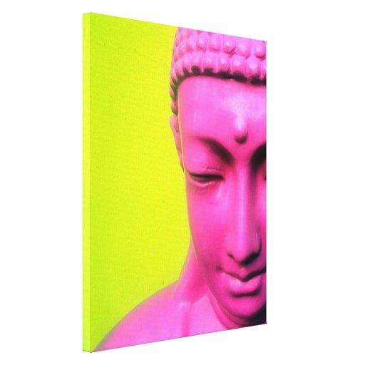 buddha pink canvas prints