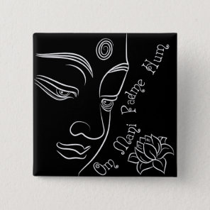 Buddha pondering lotus flower White Button