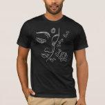Buddha pondering lotus flower White T-Shirt