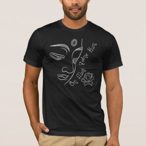 Buddha pondering lotus flower White T-Shirt